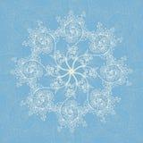 Carte de voeux fond de modèle, sans couture bleus de Noël et de nouvelle année, invitation avec des ornements de flocon de neige Photographie stock