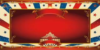 Carte de voeux gentille de cirque de vintage illustration de vecteur