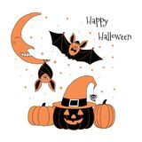 Carte de voeux de Halloween Photographie stock