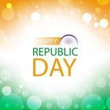 Carte de voeux heureuse d'Inde de jour de république Images stock
