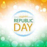 Carte de voeux heureuse d'Inde de jour de république Image libre de droits