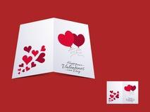 Carte de voeux heureuse de célébration de jour de valentines Photographie stock