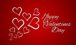 Carte de voeux heureuse de célébration de Saint-Valentin Photographie stock libre de droits