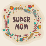 Carte de voeux heureuse de célébration du jour de mère Images stock