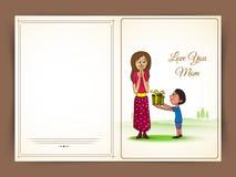 Carte de voeux heureuse de célébration du jour de mère Photos libres de droits