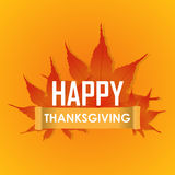 Carte de voeux heureuse de célébrations de jour de thanksgiving Image stock