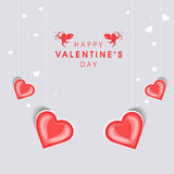 Carte de voeux heureuse de célébration de Saint-Valentin Photo libre de droits