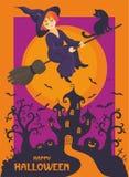 Carte de voeux heureuse de Halloween Photo libre de droits