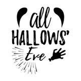 Carte de voeux heureuse de Halloween Affiche et bannière de Halloween sur Wh Images stock