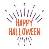 Carte de voeux heureuse de Halloween Affiche et bannière de Halloween sur Wh Photo libre de droits