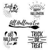 Carte de voeux heureuse de Halloween Affiche et bannière de Halloween sur Wh Photo stock