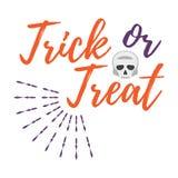 Carte de voeux heureuse de Halloween Affiche et bannière de Halloween sur Wh Images libres de droits