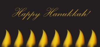 Carte de voeux heureuse de Hanoucca, invitation, affiche Festival de Hanoucca des lumières juif, festin de dévouement Illustratio illustration libre de droits