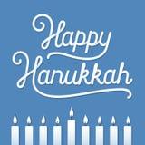 Carte de voeux heureuse de Hanukkah Image libre de droits