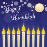 Carte de voeux heureuse de Hanukkah Photographie stock libre de droits