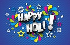 Carte de voeux heureuse de Holi illustration de vecteur