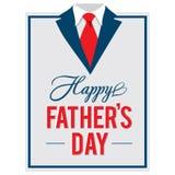 Carte de voeux heureuse de jour de father's Image libre de droits