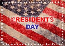 Carte de voeux heureuse de jour de président Image libre de droits