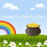 Carte de voeux heureuse de jour de St Patrick s Images stock