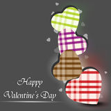 Carte de voeux heureuse de jour de Valentines, Photos libres de droits