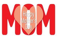 Carte de voeux heureuse de jour du ` s de mère Images stock