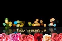 Carte de voeux heureuse de jour du `s de valentine Photo libre de droits