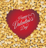 Carte de voeux heureuse de lettrage de Saint-Valentin Image stock