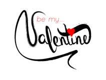Carte de voeux heureuse de lettrage de Saint-Valentin Affiche de typographie Image libre de droits
