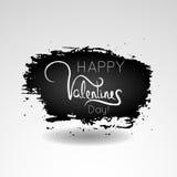 Carte de voeux heureuse de lettrage de Saint-Valentin Affiche de typographie Images libres de droits