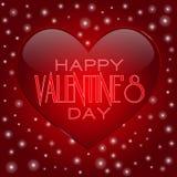 Carte de voeux heureuse de lettrage de Saint-Valentin dessus Photographie stock libre de droits