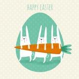 Carte de voeux heureuse de Pâques images stock