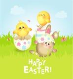 Carte de voeux heureuse de Pâques Images libres de droits