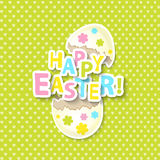 Carte de voeux heureuse de Pâques Photo stock