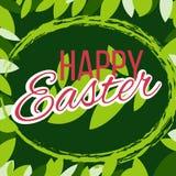Carte de voeux heureuse de Pâques Illustration de vecteur photographie stock libre de droits