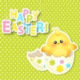 Carte de voeux heureuse de Pâques Vecteur Photo libre de droits