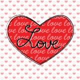 Carte de voeux heureuse de Saint-Valentin Photographie stock