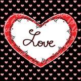 Carte de voeux heureuse de Saint-Valentin Photos stock