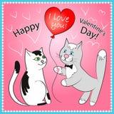 Carte de voeux heureuse de Saint-Valentin Image libre de droits