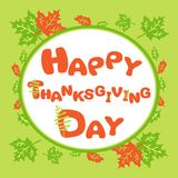 Carte de voeux heureuse de thanksgiving Photographie stock libre de droits