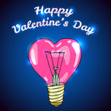 Carte de voeux heureuse de vecteur de jour de valentines Image stock