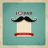 Carte de voeux heureuse de vintage de jour de pères Photo libre de droits