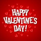 Carte de voeux heureuse du jour de valentine Photographie stock