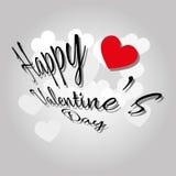 Carte de voeux heureuse du jour de valentine Image libre de droits