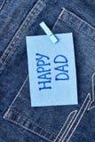 Carte de voeux heureuse du ` s de papa Images stock