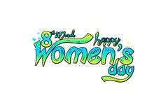 Carte de voeux heureuse de jour du ` s de femmes Carte postale le 8 mars Carte de voeux pour des femmes ou le jour du ` s de mère Photos libres de droits