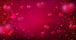 Carte de voeux heureuse de jour du `s de valentine Bannière mignonne d'amour pour le 14 février images stock