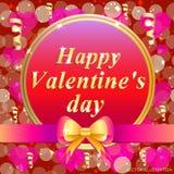 Carte de voeux heureuse de jour du `s de valentine Illustration brillamment colorée Conception de typographie pour les cartes de  Photographie stock libre de droits