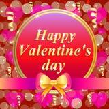 Carte de voeux heureuse de jour du `s de valentine Illustration brillamment colorée Conception de typographie pour les cartes de  Image stock