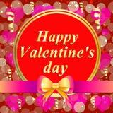Carte de voeux heureuse de jour du `s de valentine Illustration brillamment colorée Conception de typographie pour les cartes de  Photos libres de droits