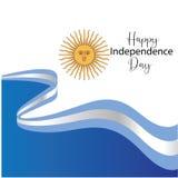 Carte de voeux heureuse de Jour de la D?claration d'Ind?pendance de l'Argentine, banni?re, illustration de vecteur - vecteur illustration libre de droits